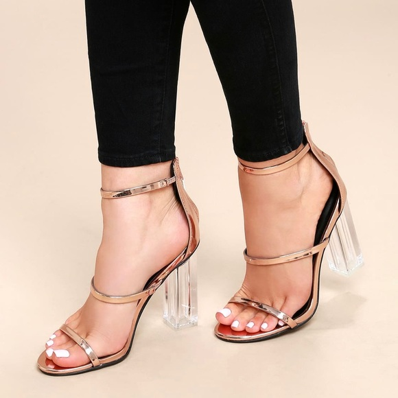 1cf46a55a419 Lulu s Shoes - Final price Lulu s Isabella Rose Gold Lucite Heels